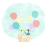 結婚イラスト気球 150x150 - お見合い用、デート用のお洋服を一緒に選びます