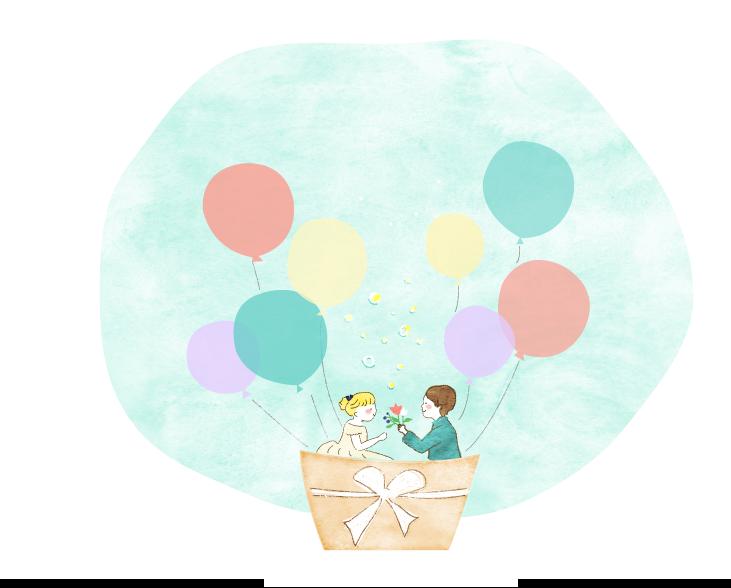結婚イラスト気球 - 結婚イラスト気球